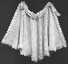 1908 Pelerine Shawl Vintage Crochet Pattern PDF 076