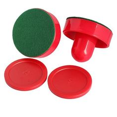 Durable Air  2 Pushers Handles 4 Pucks Goalie Paddles Replacement Game HS