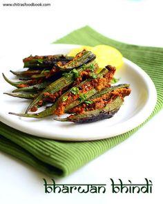 Bharwan Bhindi recipe - Stuffed Okra masala fry