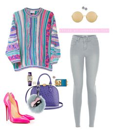 """""""Untitled #538"""" by cherhorowitz95 on Polyvore featuring COOGI, Christian Louboutin, Fendi, Cartier, Repossi and Linda Farrow"""