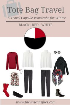 The Vivienne Files: A Winter Travel Capsule Wardrobe in Black, Red and White