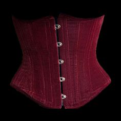 Dark red velvet underbust corset similar to this, but better in look and quality