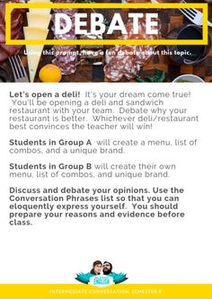 This is an ESL conversation topic lesson which includes ESL conversation starters, ESL conversation activities, and ESL discussion questions. This paticular topic-based lesson tackles cold-cuts! Conversation Topics, Conversation Starters, Cold Cuts, Esl, To Tell, Dreaming Of You, How To Become, Told You So, Activities