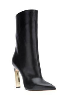 Love black leather ankle booties with stiletto heels! This would go well with a skirt or dress for a night out ♥ Get this look at @SPARKTREND for $25, click the image to see! #womens #boots #shoes #fashion #ankle #booties #stilettos #heels
