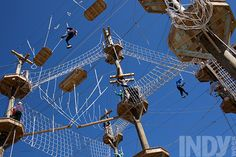 PHOTO BY D.L. ANDERSON - Discovery High Ropes Course at Bethesda Park