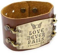 Lenny And Eva Sale | Amazon.com: Lenny and Eva Chestnut with Brass Sentiment 'Love Never ...