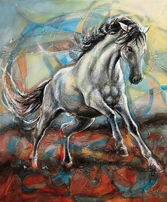 """Saatchi Art is pleased to offer the painting, """"Freedom of movement,"""" by Lubomir Korenko. Original Painting: Acrylic on Canvas. Size is 0 H x 0 W x 0 in. Funny Drawings, Animal Drawings, Funny Animal Videos, Funny Animals, Freedom Of Movement, Horse Art, Animals For Kids, Animal Pictures, Saatchi Art"""