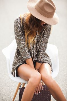 sequined jacket. dresses up any outfit.