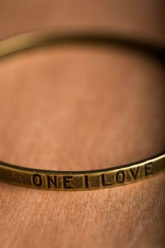 Brand Spankin' New: This one goes out to... The One I Love bangle bracelet on BourbonandBoots.com