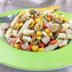 Ensaladas de pasta (varias) » Divina CocinaRecetas fáciles, cocina andaluza y del mundo. » Divina Cocina