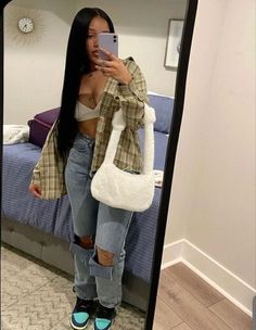 Baddie Outfits Casual, Cute Swag Outfits, Chill Outfits, Dope Outfits, Trendy Outfits, Fashion Outfits, Ropa Hip Hop, Black Girl Fashion, High Fashion