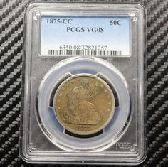1875 CC Seated Liberty Half Dollar PCGS VG 8 Carson City | eBay
