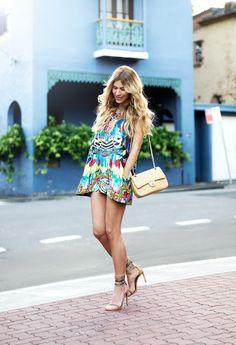 Fun printed summer dress