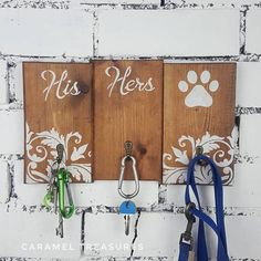 Hey, I found this really awesome Etsy listing at https://www.etsy.com/uk/listing/557323661/his-hers-dog-wall-key-rack-unique-lead