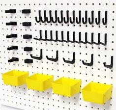 Plastic Pegboard Bins