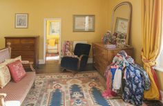 In the Limelight - The house's concoction of colour is mirrored in the owner's gorgeous selection of scarves