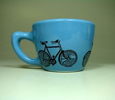 Drink my coffee from this just on the mornings I rode my blue bike, yea! Would also get Summer's new pillow for my nap after my bike ride, the one with bikes on it.