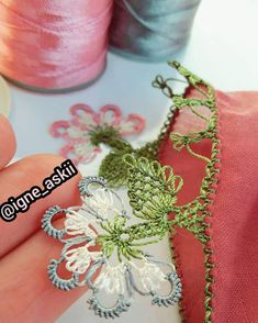 The Color You Need to Admire Color Needle Lace Headscarf Writing Edge Models - Knitting Flower Model, Knit Shoes, Needle Lace, Knitted Shawls, Knitting Socks, Diy Crafts To Sell, Hand Embroidery, Needlework, Knit Crochet