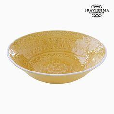 Plato Hondo Porcelana Amarillo by Bravissima Kitchen Kitchenware, Tableware, Toque, Serving Bowls, Decorative Bowls, Html, Products, Dishwashers, Gourmet Cooking