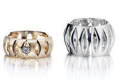 Kaisa Vuorinen | 'Lyhty' sormus | hopea, kulta, timantti via UnionDesign