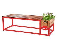 Banco com Floreira Spring - Vermelho