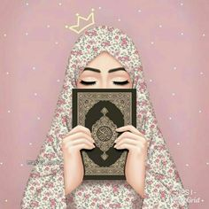 Image discovered by rose of paradise. Find images and videos about peace, islam and hijab on We Heart It - the app to get lost in what you love. Hipster Vintage, Style Hipster, Hijab Hipster, Vintage Style, Cute Girl Wallpaper, Cartoon Wallpaper, Iphone Wallpaper, Desenho Pop Art, Hijab Drawing
