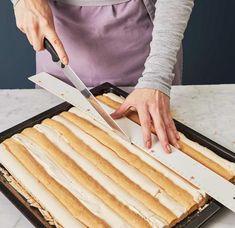 Kardinalschnitten Rezept - [ESSEN UND TRINKEN] Confectionery, Sweet Recipes, Plastic Cutting Board, Deserts, Baking, Kitchen, Petra, Tiramisu, Free