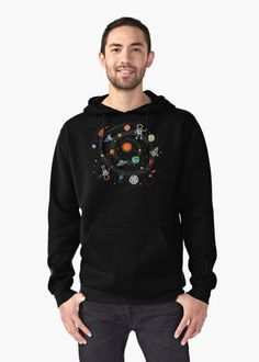 Outer Space Illustration by Gordon White | Pullover Hoodie for Men Available in All Sizes @redbubble  --------------------------- #redbubble #sticker #pulloverhoodie #clothing #apparel --------------------------- http://www.redbubble.com/people/big-bang-theory/works/22569162-outer-space-planetary-illustration?asc=u&p=t-shirt&rel=carousel&style=mhoodie