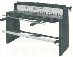 Foot Stomp operated Sheet Metal Shear #machine #tool