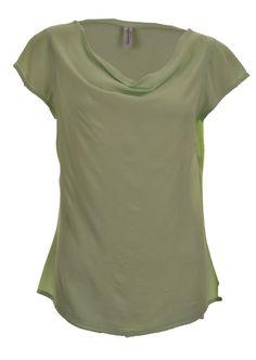 Handwritten apple cap sleeve crepe t-shirt - £126    http://www.stanwells.com/by-designer-1/handwritten-clothing/handwritten-clothing-apple-cap-sleeve-crepe-t-shirt