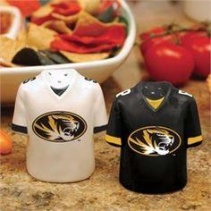 Missouri Tigers Salt and Pepper Shakers Ceramic Set
