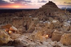 The heart of Siwa town is dominated by the quite spectacular shape of the Shali, which fil...