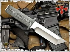 George Knives - XM-7 EOD Fixed Blade Black/Gray G10