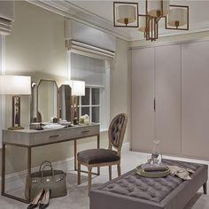 """Fantastic dressing room by @sophiepatersoninteriors  #interiordesign #homedecor #design #decor #house #masterbedroom #newkitchen #kitchenrenovation…"""