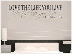 Bob Marley Quote Wall Decal Decor Love Life Words Large Nice Sticker Text by Value Decals, http://www.amazon.com/dp/B007C98QIA/ref=cm_sw_r_pi_dp_y6ftrb1V34R76