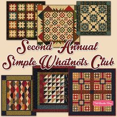 Second Annual Simple Whatnots Miniature Quilts ClubKim Diehl and Henry Glass Fabrics | Fat Quarter Shop