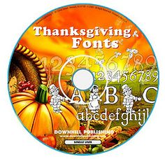 9 Thanksgiving fonts 4 teachers. Check them out at http://www.teacherspayteachers.com/Product/9-Halloween-Fonts-to-Create-Printable-Worksheets-444333