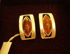 Rectangle Amber Stud Earrings - Large amber stud earrings with sterling silver. These beautiful earrings come in a cognac color. Luxury affordable amber earrings suitable for all occasions - www. Amber Earrings, Stud Earrings, Beautiful Earrings, Cufflinks, Charlotte, Sterling Silver, Luxury, Accessories, Collection
