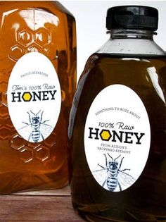 We design & print custom honey labels for backyard beekeepers! Our oval honey labels are customized with a name, contact info, & size. Custom honey labels are perfect for farmer's market sales or gifts for family & friends. Honey Jar Labels, Honey Label, Drink Labels, Food Labels, Printable Labels, Bottle Labels, White Labels, Online Labels, Backyard Beekeeping