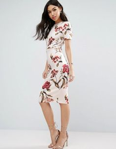 ASOS Floral T-Shirt Midi Dress