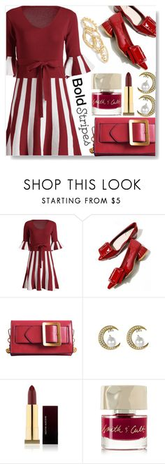 """""""Bold Stripes"""" by simona-altobelli ❤ liked on Polyvore featuring Kevyn Aucoin and Smith & Cult"""