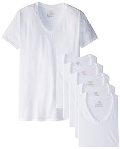 #1.Hanes Men's Six Pack of V-Neck T-Shirts