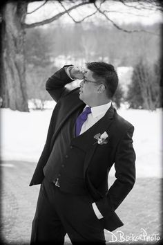 Groom Brian at his photoshoot.  @dbeckerphoto