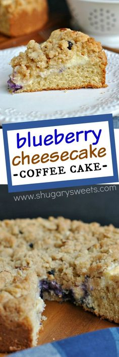 Delicious Coffee cake with a ribbon of cream cheese and fresh blueberries!