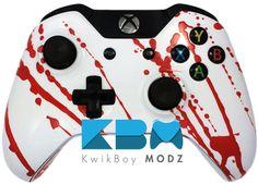 Blood Splatter Xbox One Controller - KwikBoy Modz #CustomController #ModdedController #XboxOne #XboxOneController #BloodSplatter #BloodSplatterController