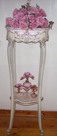 Image detail for -Antique Fancy French Planter. I have hand painted French Scrolls and ...