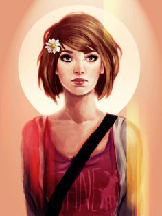 fanart, fashion, flower, life is strange, lis, max caulfield, maxine caulfield, people, square enix, flower, video games, videogame