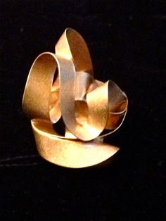 NANIS 18K Gold Abstract Swirl Statement Cocktail by CliqueCouture, $725.00