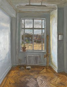 """Who? James Lloyd What? """"Southwark Street Studio"""" Why? I like this simple almost empty capture of this study. Lloyd perfectly captures the light and shadow of the studio through his painting style."""