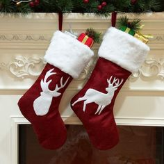 Christmas Socks Cat Dog Elk Navidad New Year Candy Bag Christmas Decorations Merry Christmas, Christmas Bags, Best Christmas Gifts, Reindeer Christmas, Christmas Stuff, Holiday Gifts, Christmas Ideas, Reindeer Face, Christmas Projects